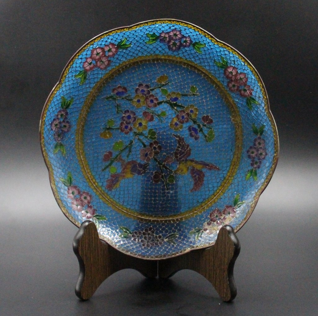 Chinese Glass plate