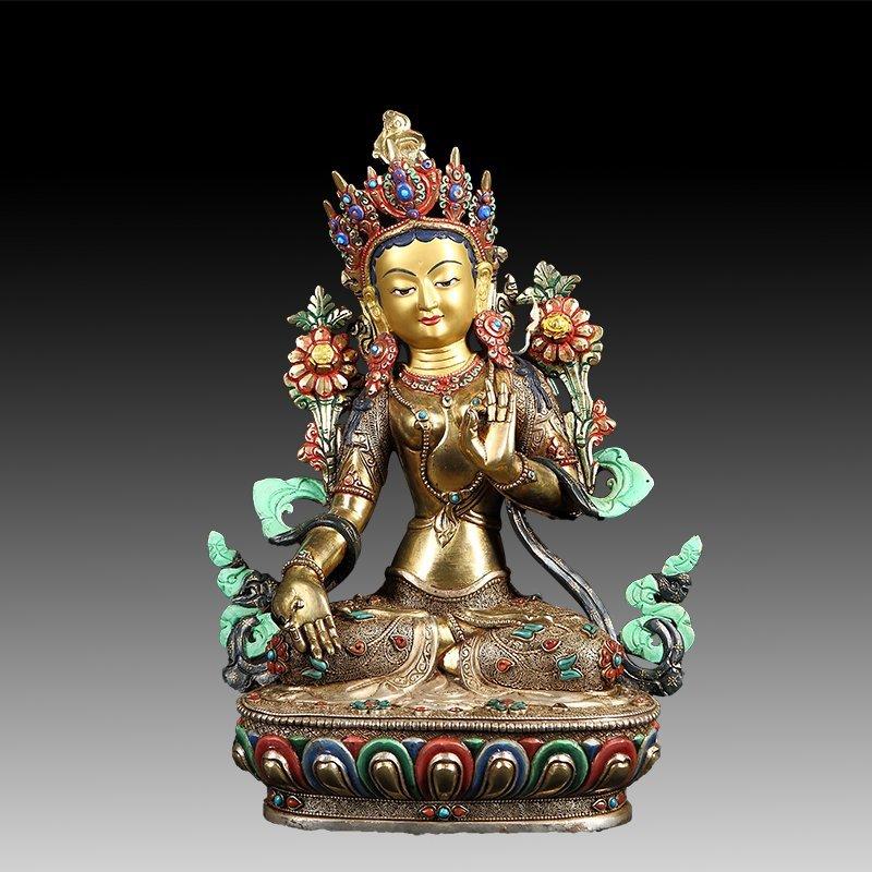 Chinese Tibet Copper Buddha Statue