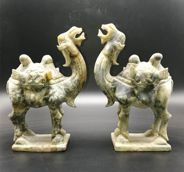 Superb Chinese Hetian Jade Camel Statue