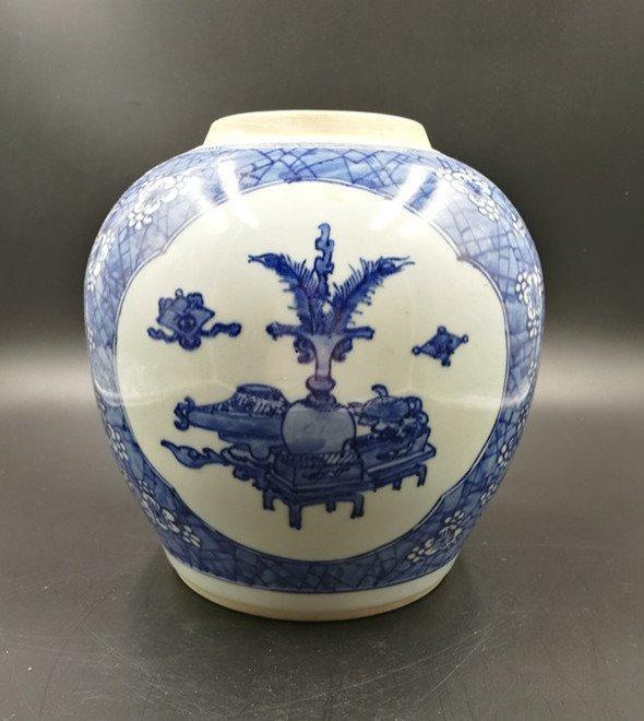 Chinese Blue And White Porcelain  Jar