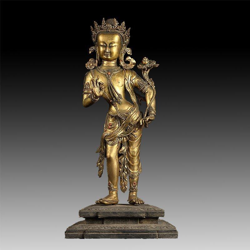 Chinese Antique Bronze Buddha