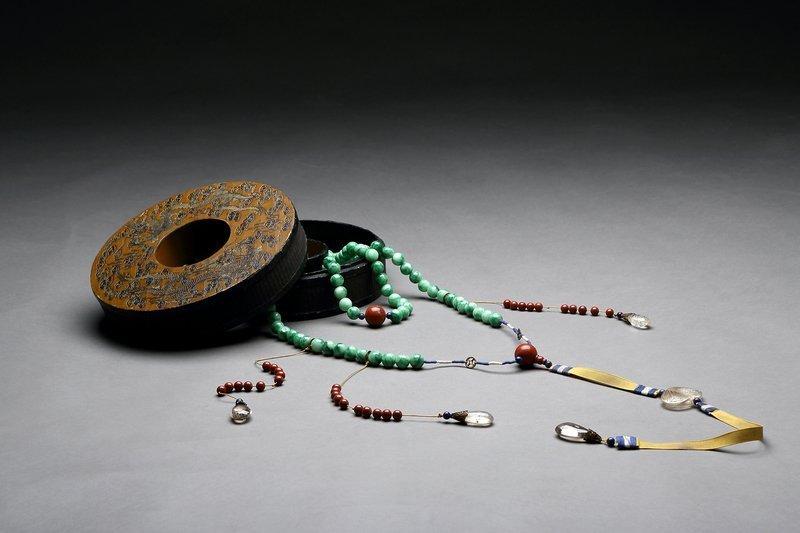Chinese Court Jadeite Necklace