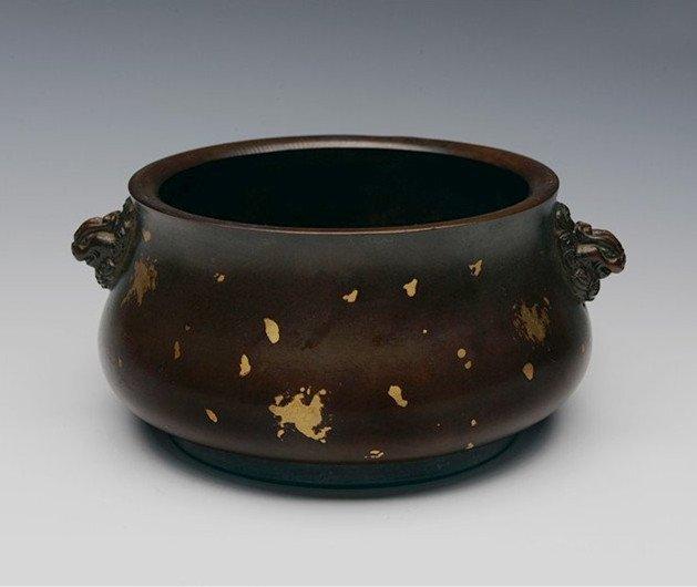 Antique Copper Incense Burner Mark