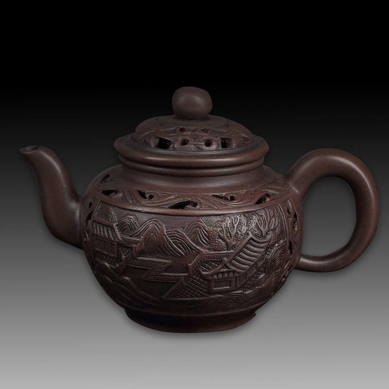 Chinese zisha teapot and cover
