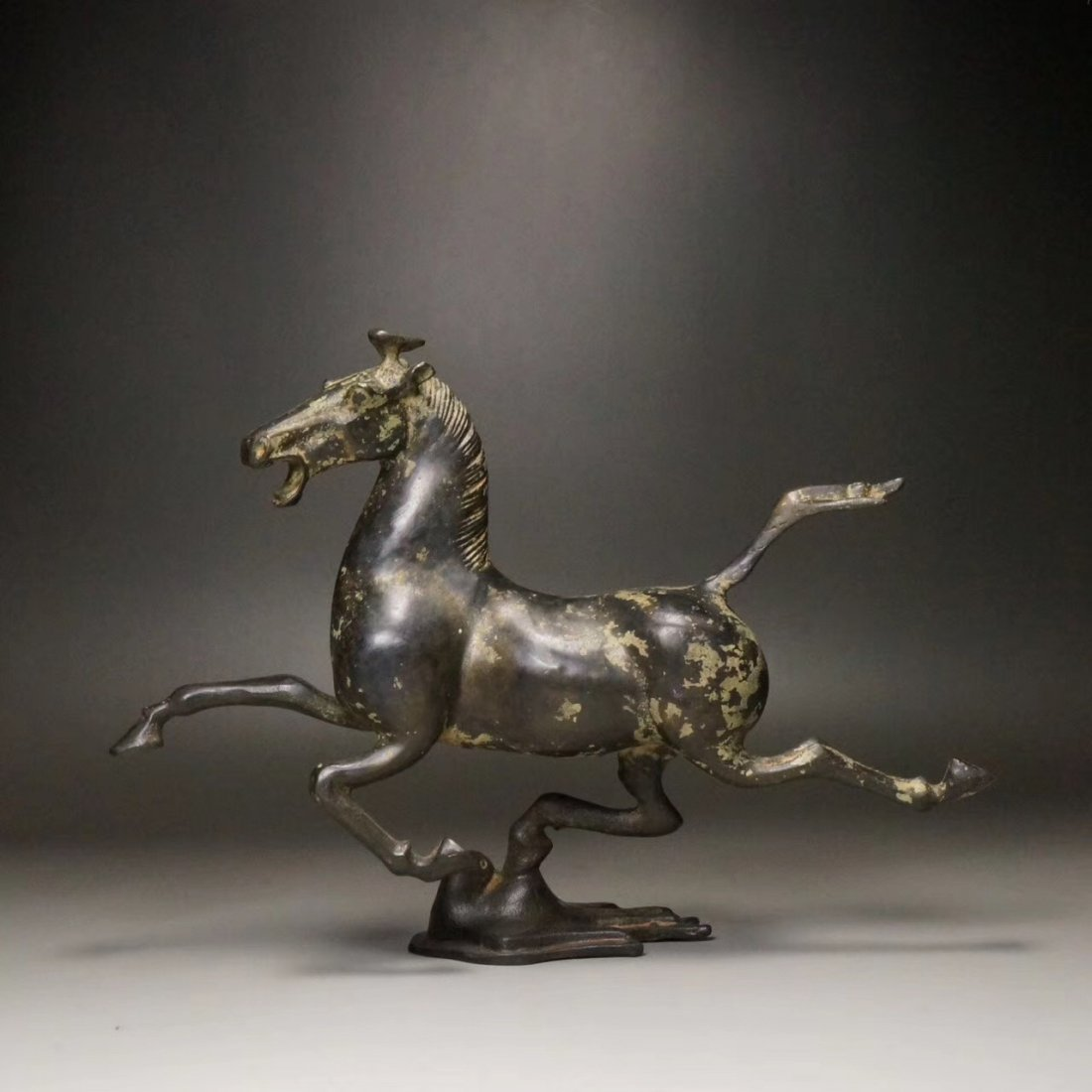 Chinese Tang Period Bronze Flying Horse Statue