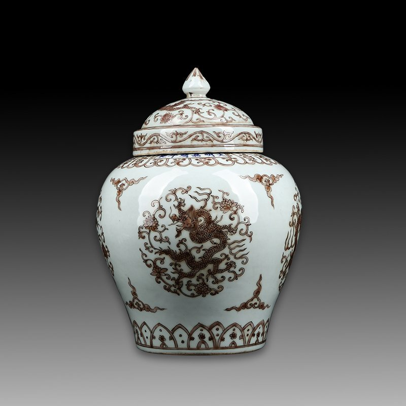 Chinese Ming Wanli Porcelain Dragon Jar