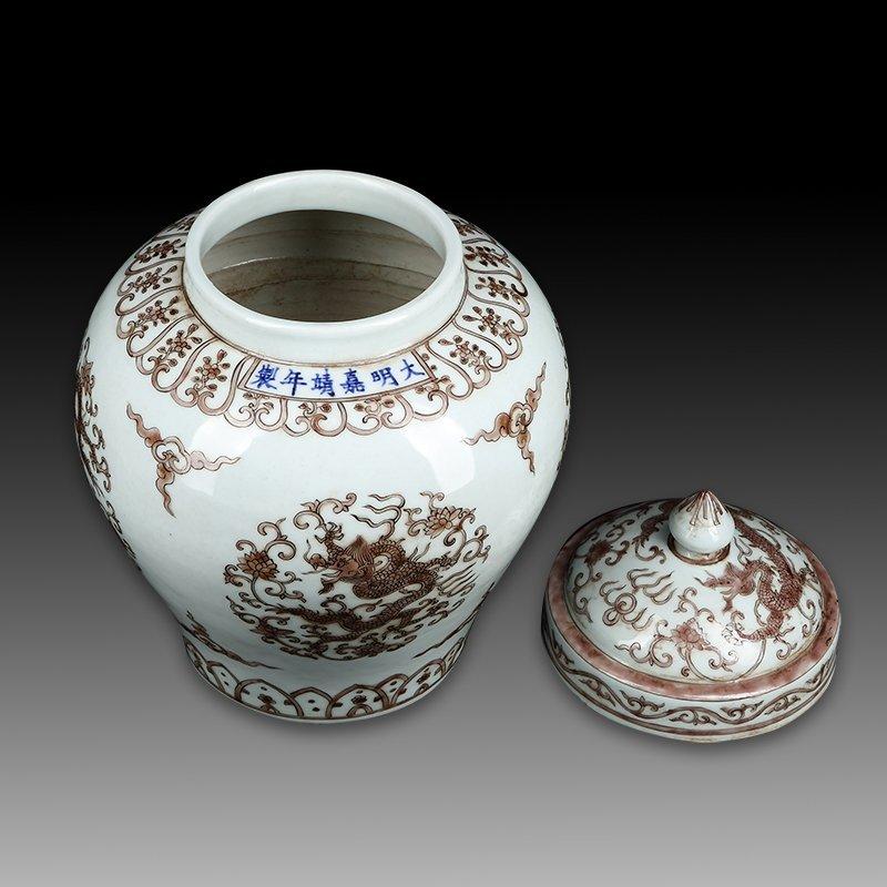 Chinese Ming Wanli Porcelain Dragon Jar - 3