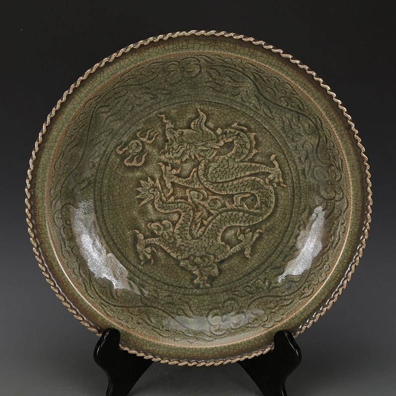 Large of Chinese Song Yaozhou kiln Porcelain Plate