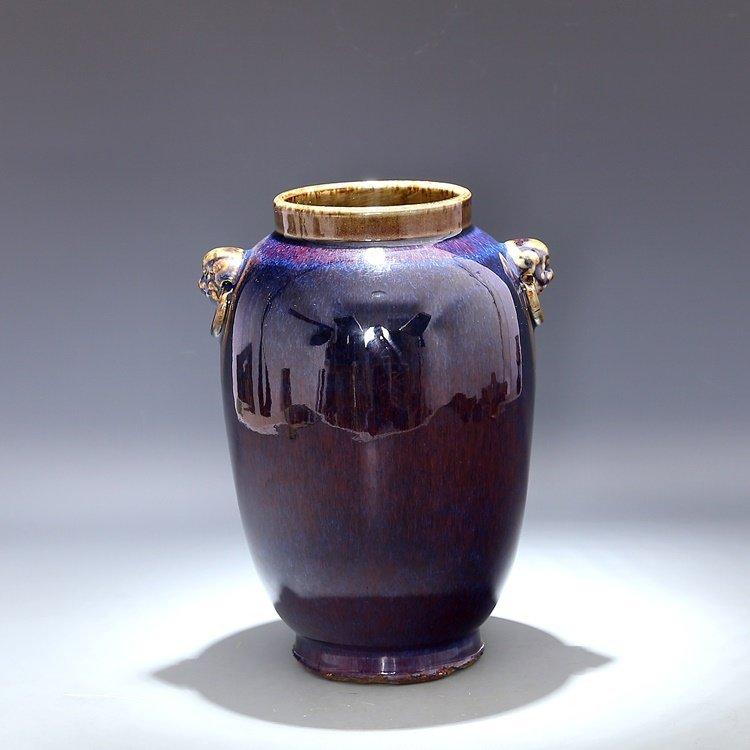 Chinese Qing Qianlong Red Porcelain  Vase