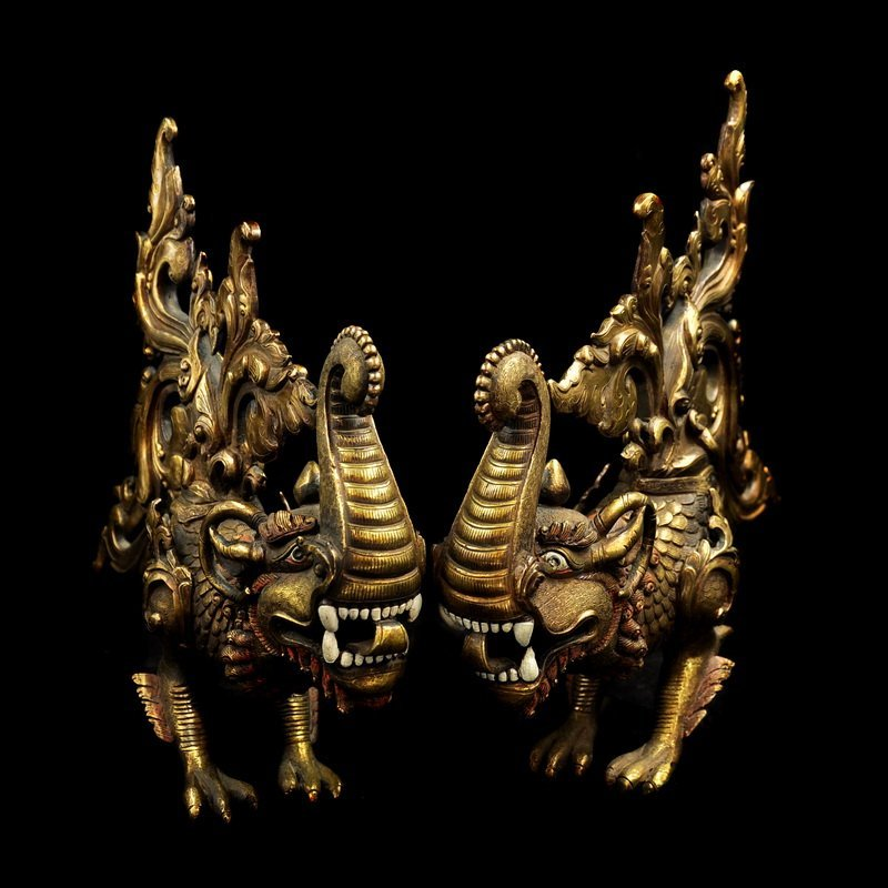 Chinese Qing Dynasty Gilt Bronze  Scorpions