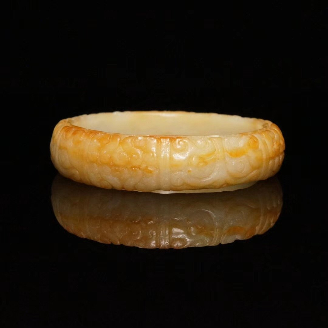 Chinese Carved Jade Bracelet
