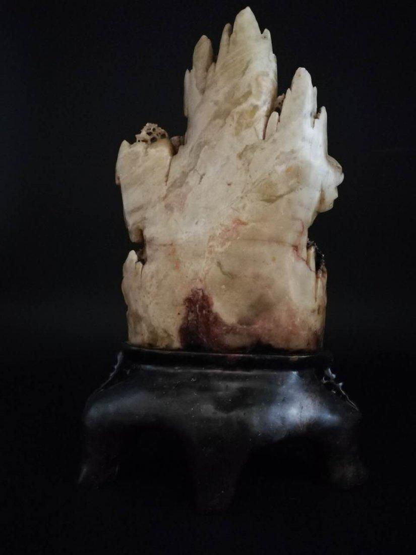 Chinese Shoushan Stone Statue - 5
