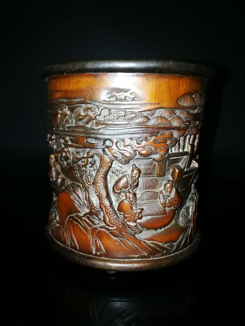 Chinese Qing Dynasty Bamboo Brush Pot - 7