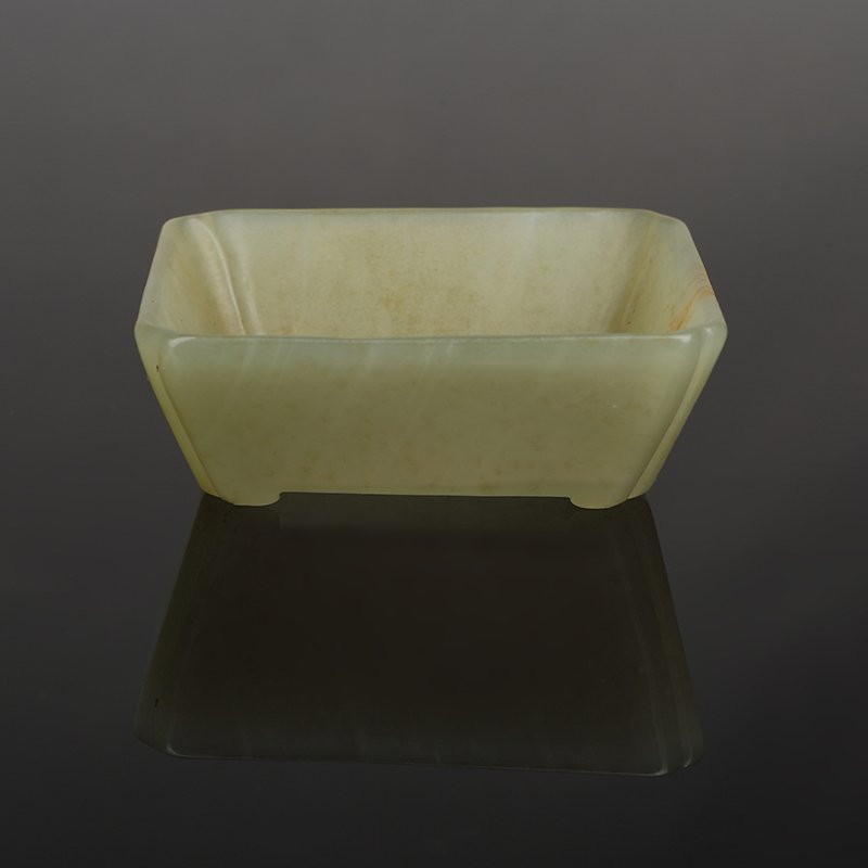 Chinese Qing Dynasty Hetian Jade Writing brush washer