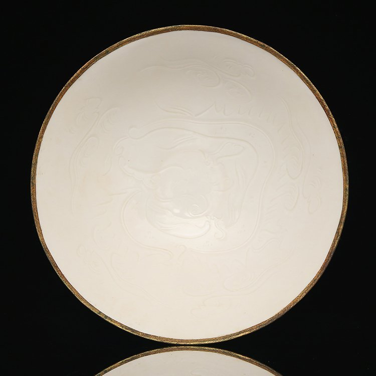 Chinese Ding kiln white glaze Porcelain Pot