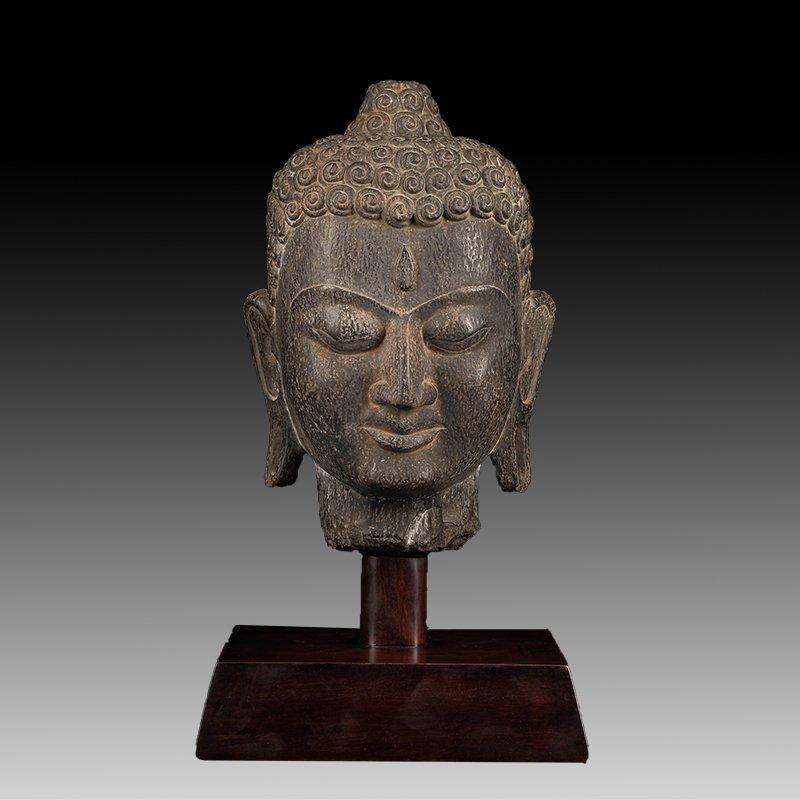 Chinese Antique Stone Buddha head
