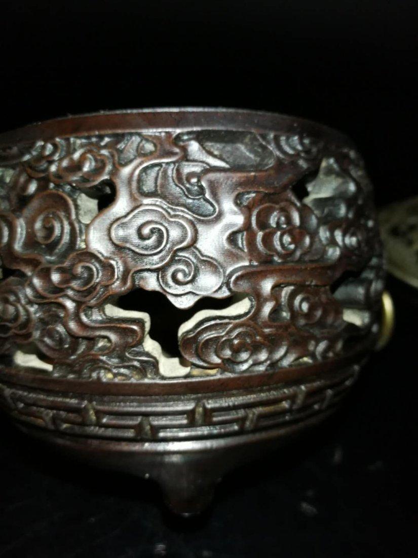Chinese huang huali wood box - 4