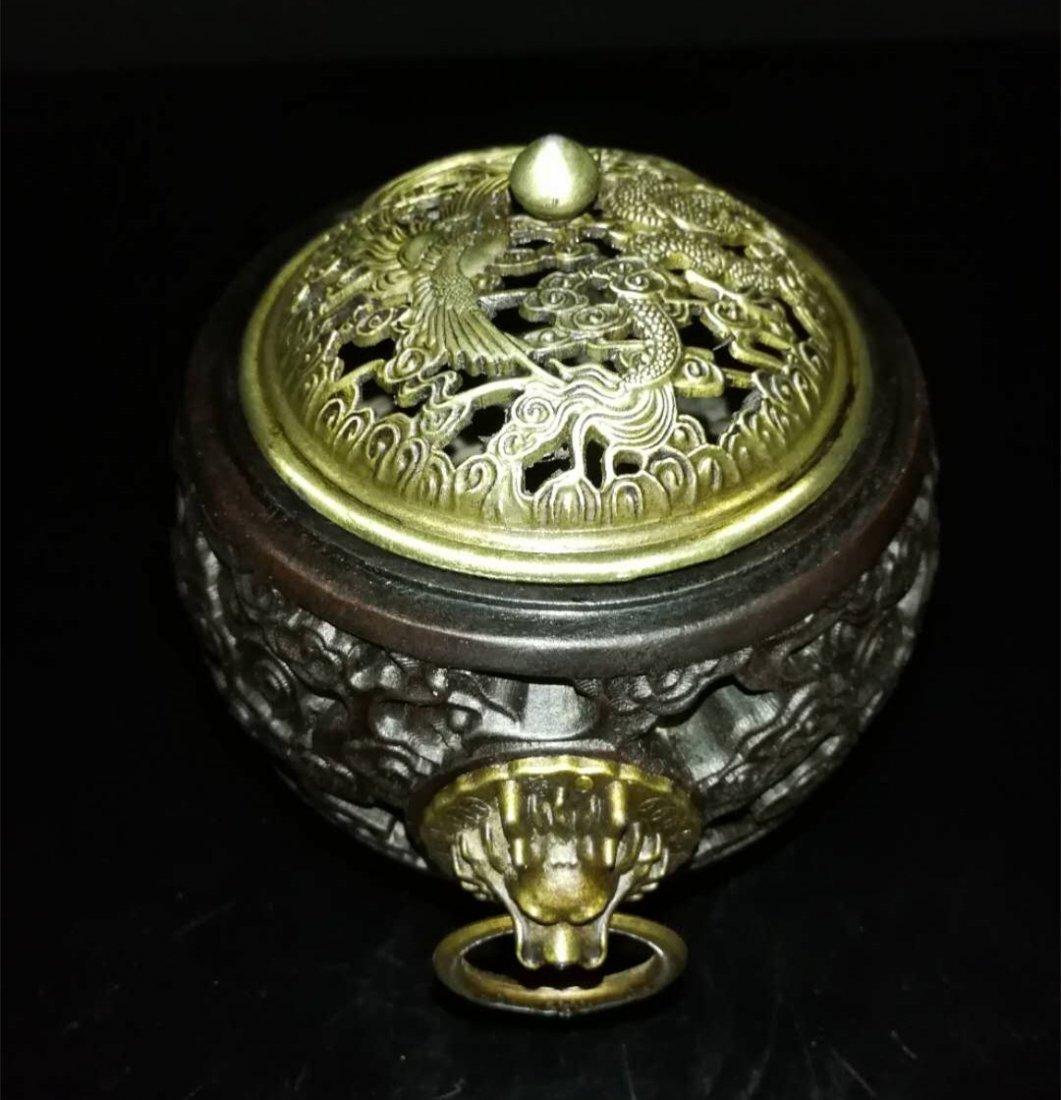Chinese huang huali wood box - 6