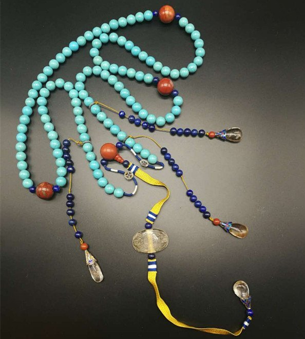 Chinese Turquoise Court Necklace