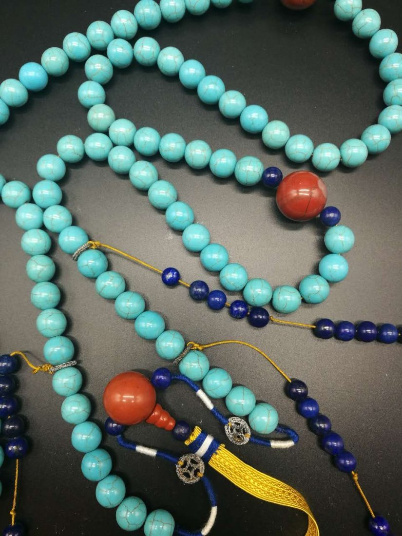 Chinese Turquoise Court Necklace - 2