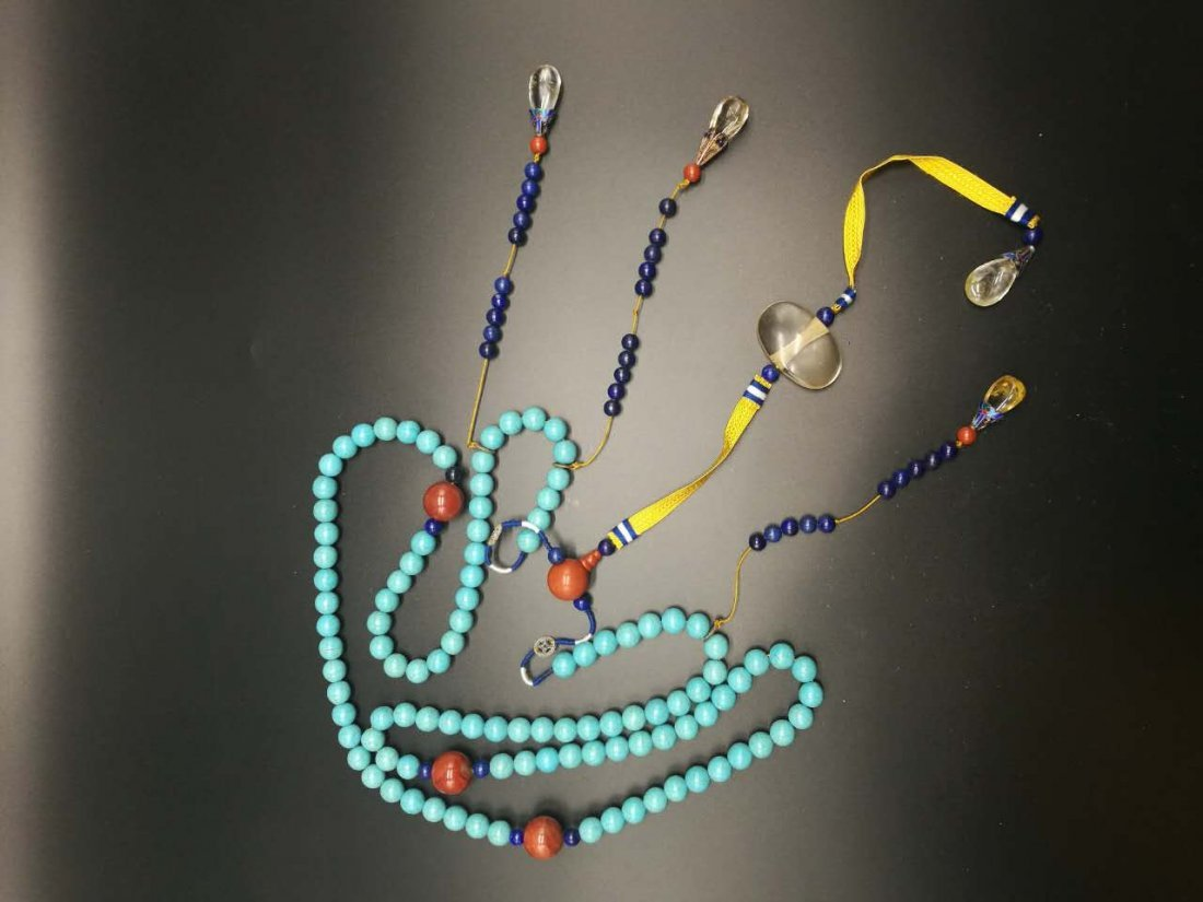 Chinese Turquoise Court Necklace - 6
