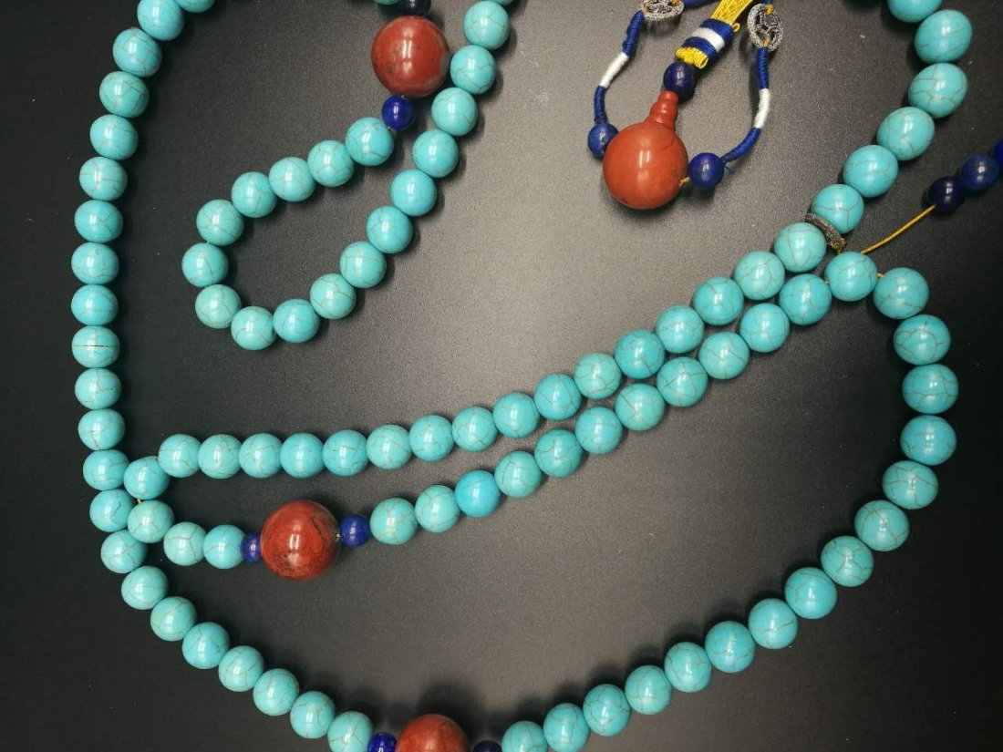 Chinese Turquoise Court Necklace - 8