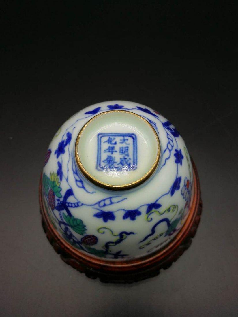 Chinese Doucai Porcelain Bowl - 6