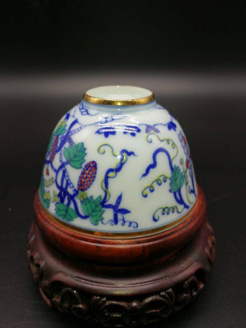 Chinese Doucai Porcelain Bowl - 7
