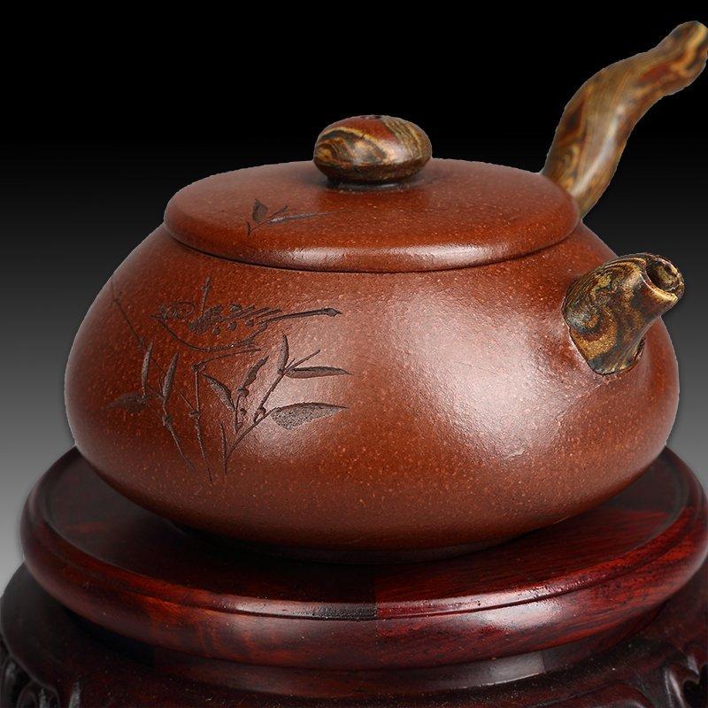 Chinese zisha teapot and cover - 3