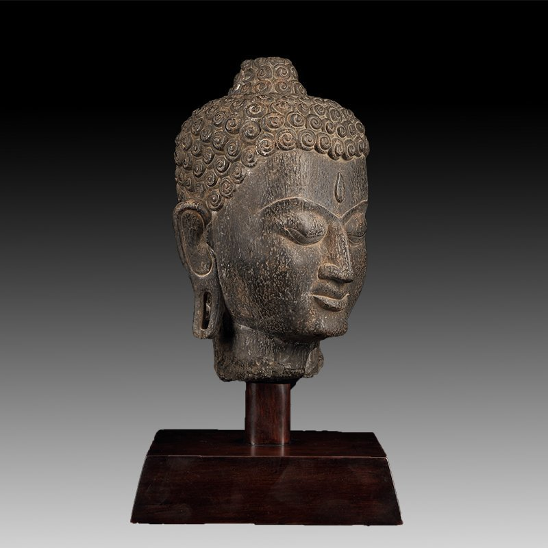 Chinese Antique Stone Buddha head - 3