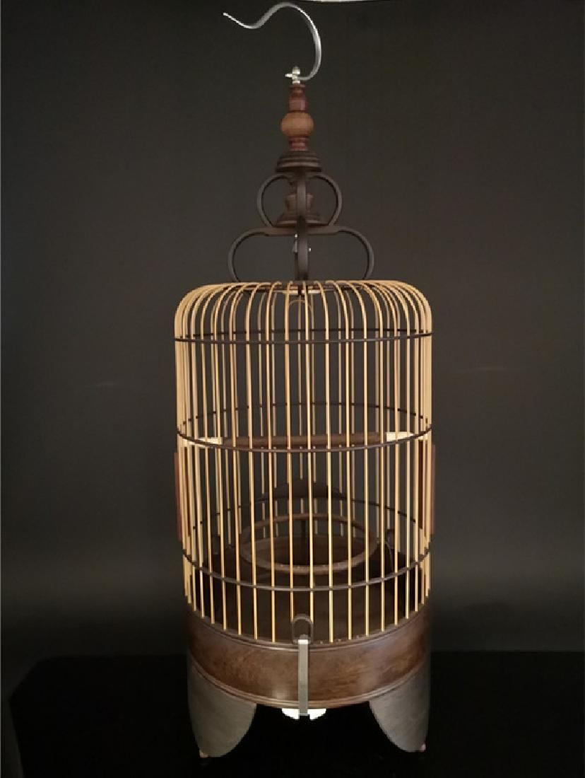 Chinese bamboo  and Red sandalwood bird cage