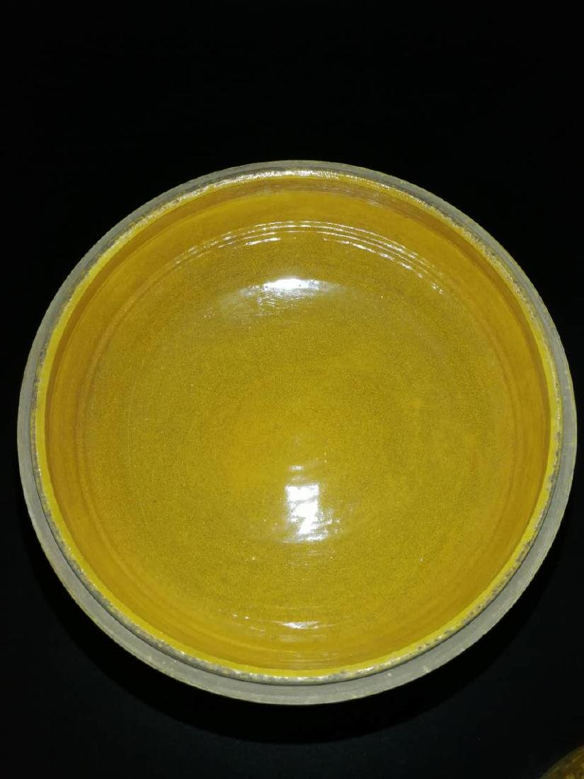Antique Chinese Yellow can rotate incense burner - 5