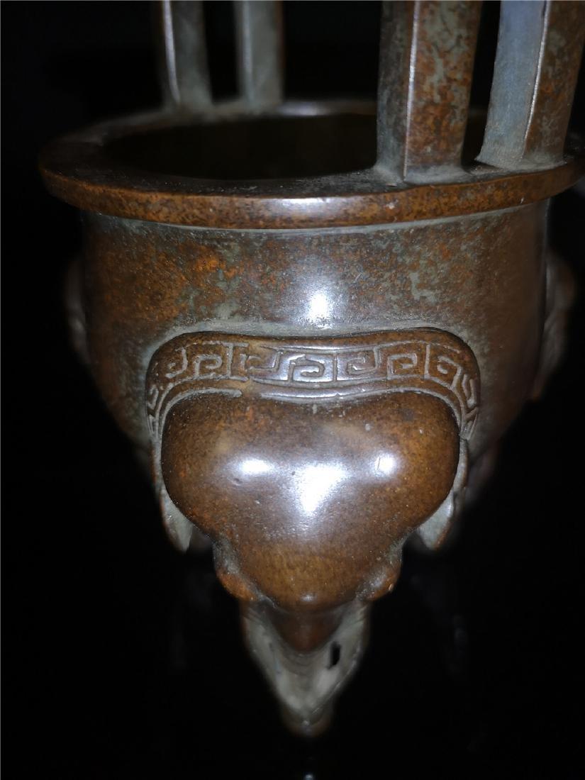 Antique Copper Incense Burner - 8