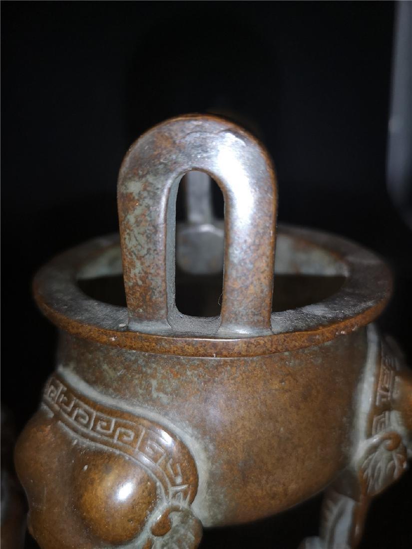 Antique Copper Incense Burner - 9