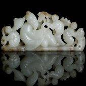 Chinese Hetian Jade Nephrite Statu