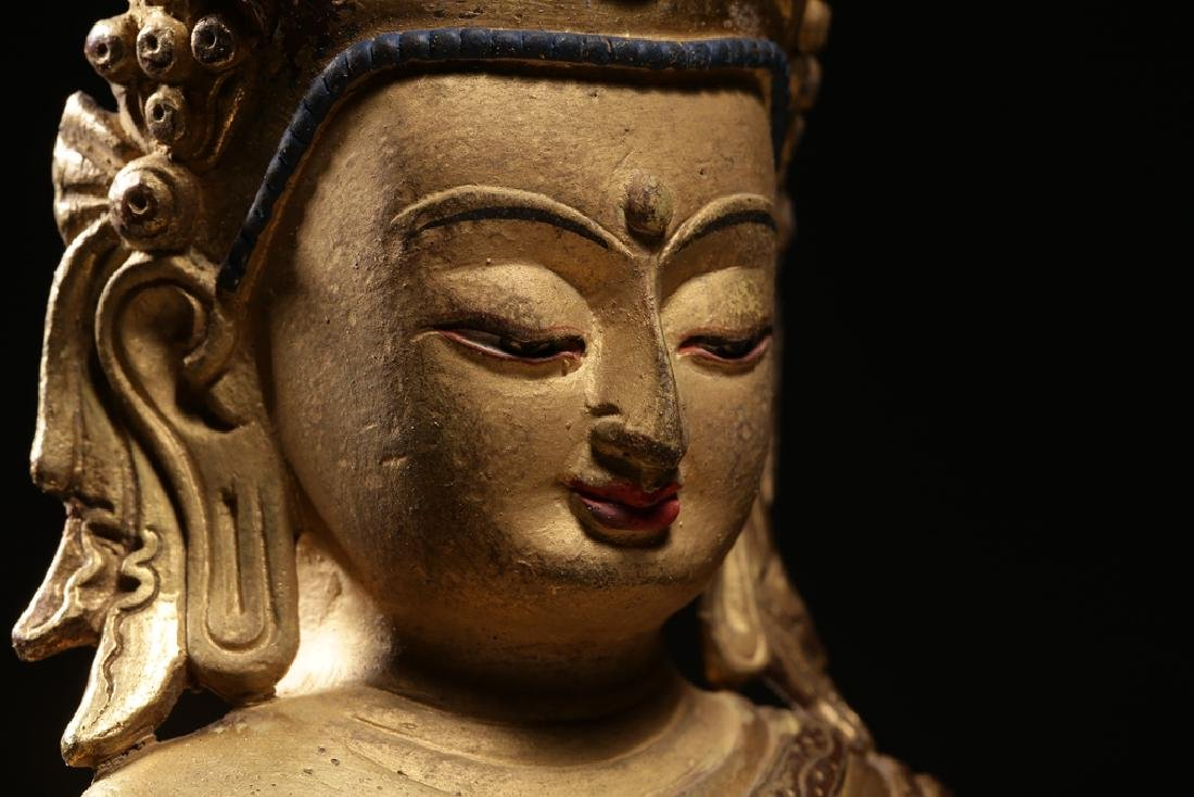 VERY FINE CHINESE BRONZE FIGURE OF BUDDHA - 12