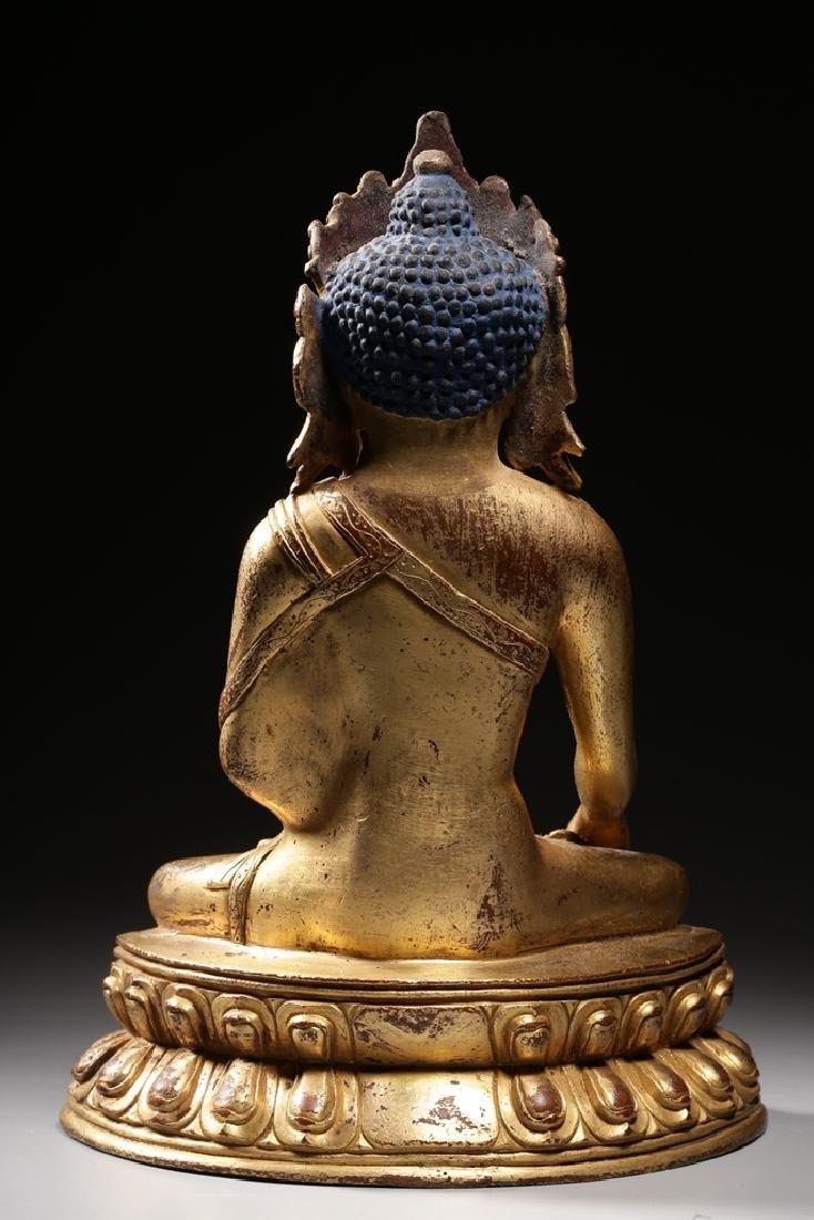 VERY FINE CHINESE BRONZE FIGURE OF BUDDHA - 13