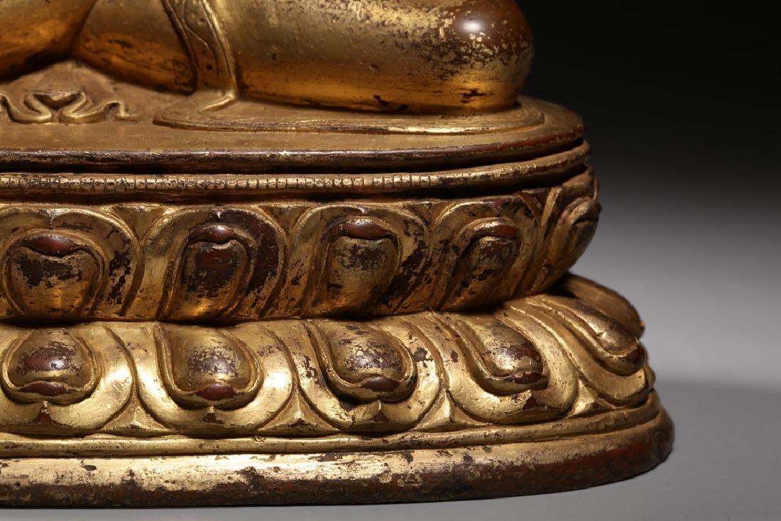 VERY FINE CHINESE BRONZE FIGURE OF BUDDHA - 5
