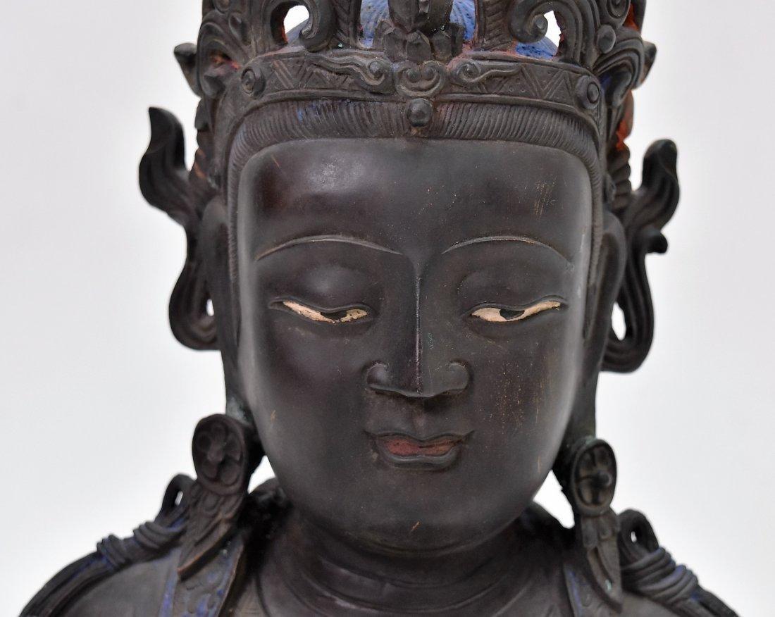 MASSIVE BRONZE BUDDHA OF BODDHISHATVA - 7