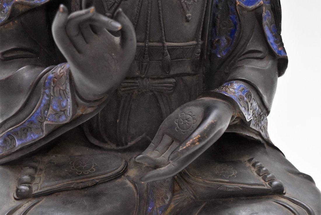 MASSIVE BRONZE BUDDHA OF BODDHISHATVA - 9