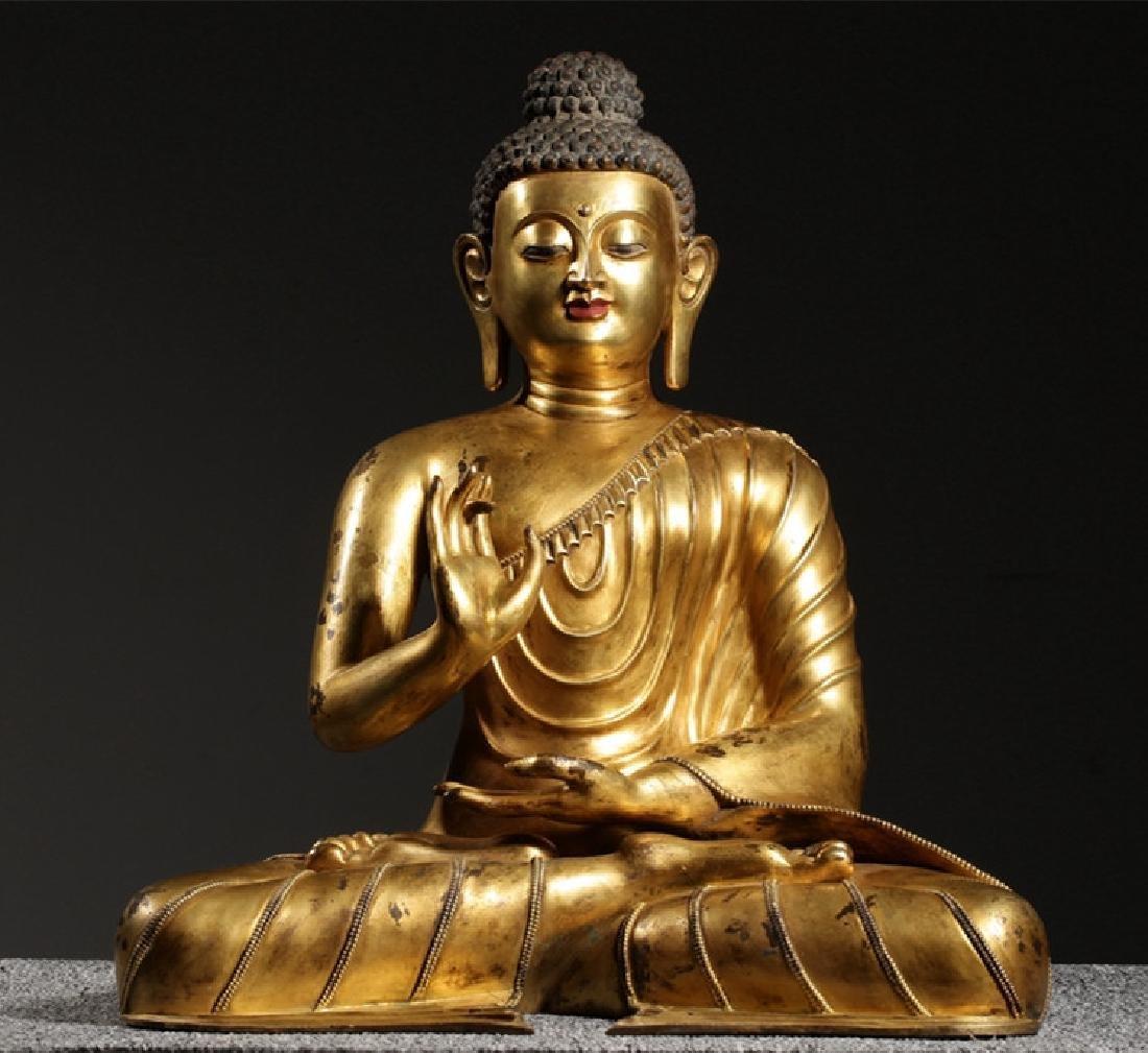 VERY FINE CHINESE BRONZE FIGURE OF BUDDHA