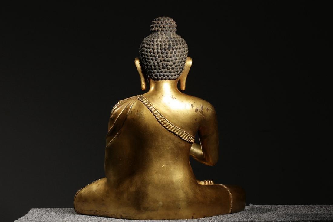 VERY FINE CHINESE BRONZE FIGURE OF BUDDHA - 7
