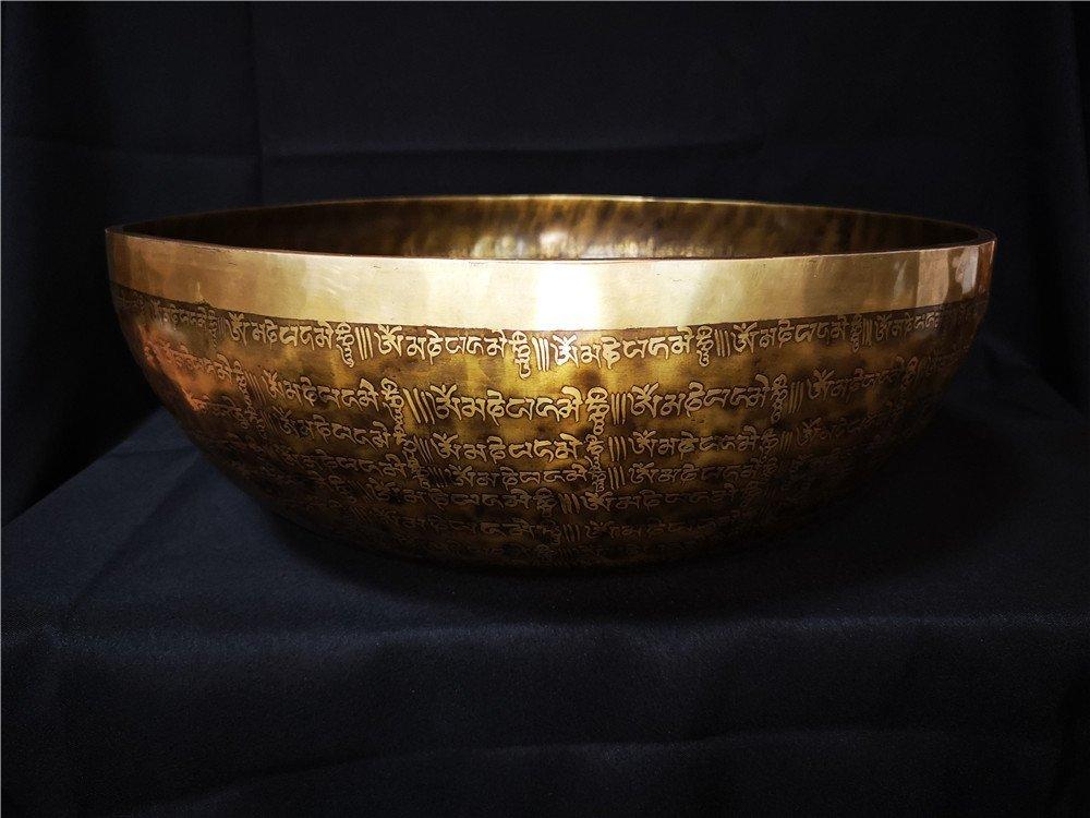 LARGE TIBETAN BUDDHIST MEDITATION COPPER BOWL - 2