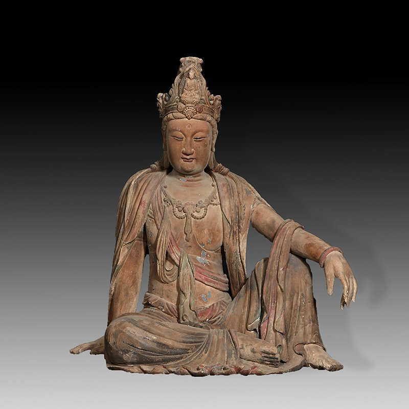 ANTIQUE CHINESE CARVED WPPD GUANYIN