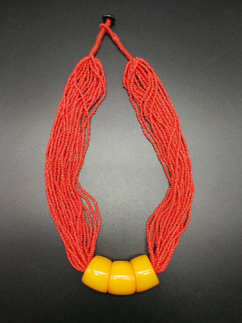 Chinese  Coral Necklace - 3