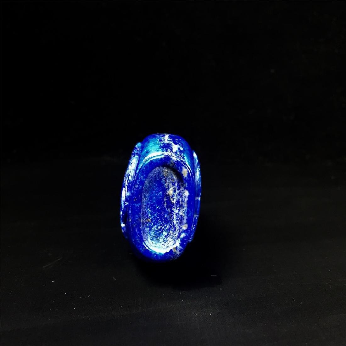 Chinese Lapis lazuli snuff bottle - 6