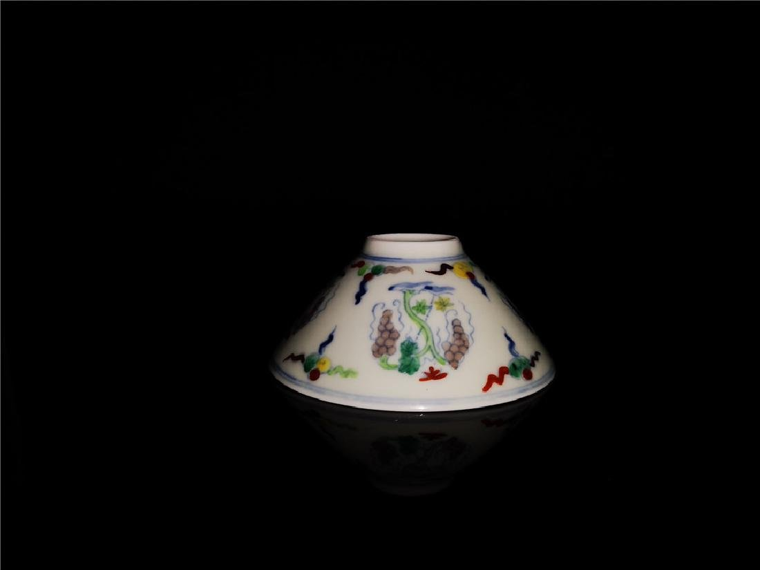 Chinese Doucai Porcelain Cup - 5