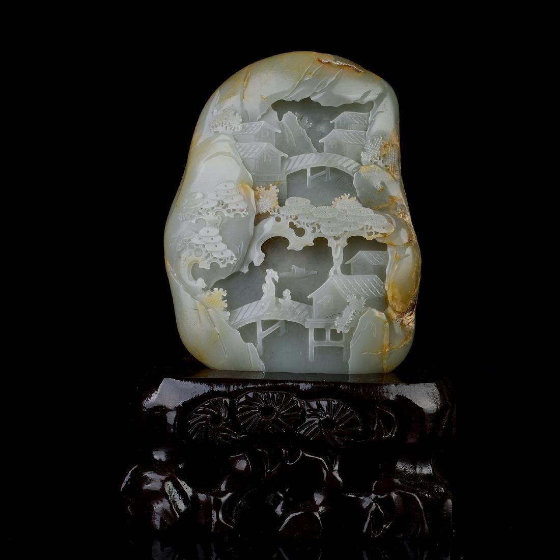Chinese HeTian Jade Boulder