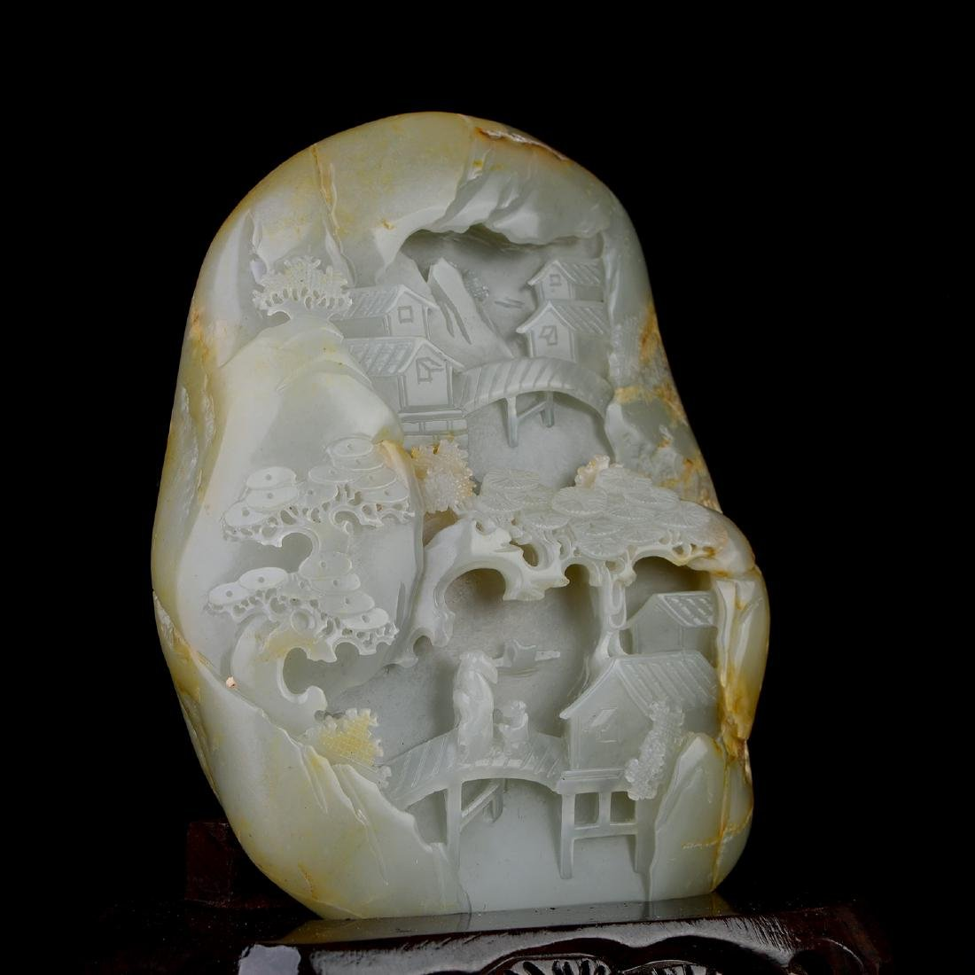 Chinese HeTian Jade Boulder - 2