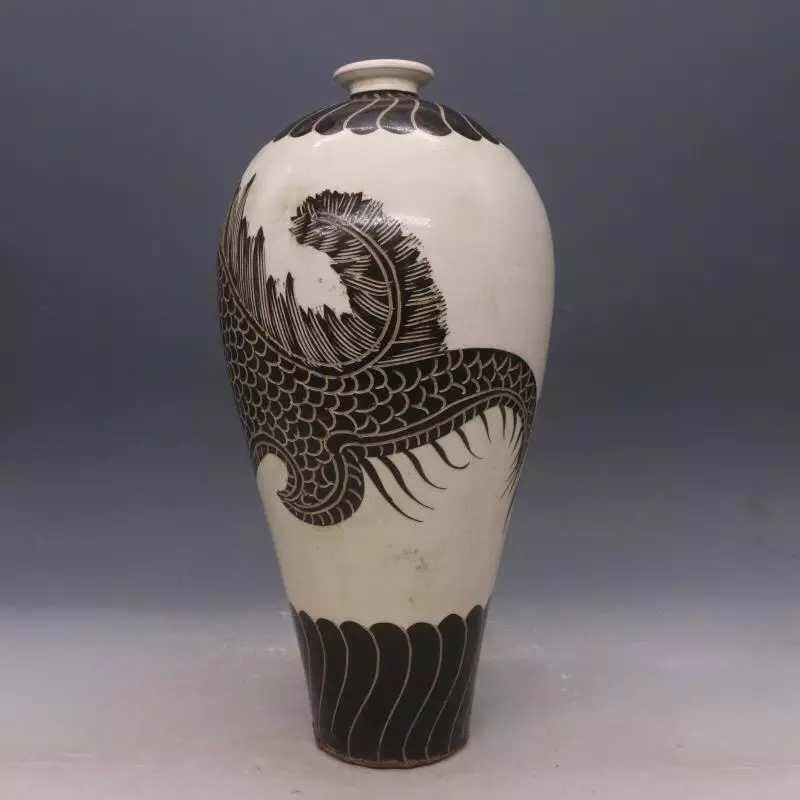 Chinese Cizhou  Kiln  Porcelain  Vase - 3